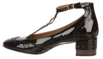 Chloé Patent Leather Brogue Pumps