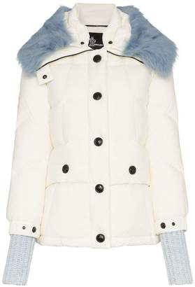 Moncler Carezza shearling collar padded jacket