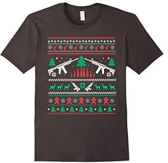 Xmas Christmas Gun Lover Shirt Ugly Sweater I Love Gun