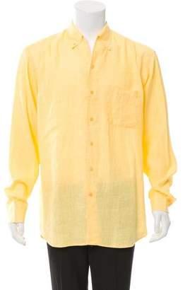 Zegna Sport Linen Button-Up Shirt