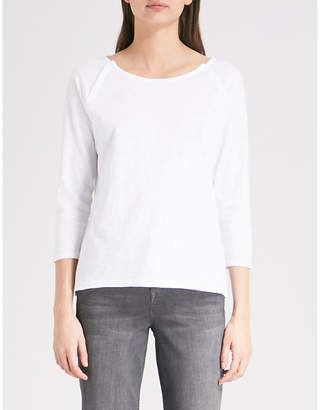 The White Company Button-front cotton top