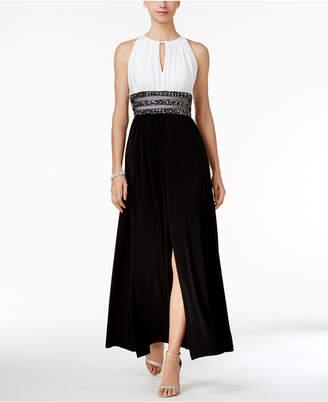 R & M Richards Embellished Keyhole Halter Gown $119 thestylecure.com