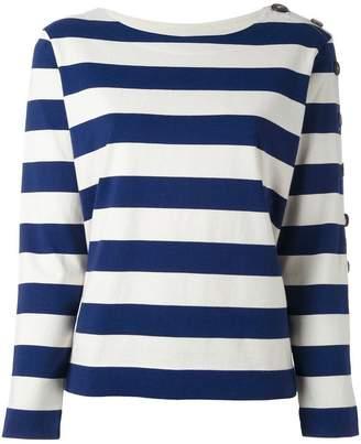 MiH Jeans button sleeve breton jumper