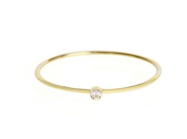 Jennifer Meyer Yellow Gold Diamond Band