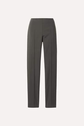 Akris Melissa Cotton-blend Slim-leg Pants - Gray