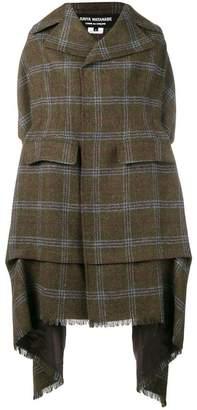 Junya Watanabe COMME DES GARÇONS draped plaid coat