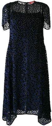 Max Mara patterned asymmetric dress
