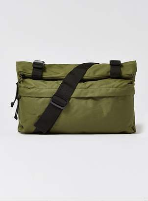Topman Khaki Cross Body Zip Roll Bag