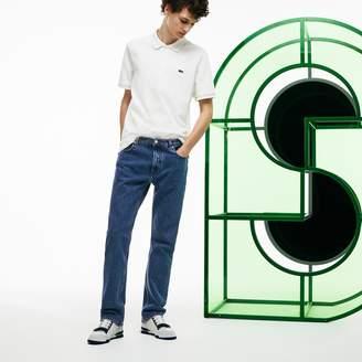 Lacoste Men's Fashion Show Wide-Leg 5-pocket Jeans