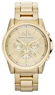 Armani Exchange Gold tone Chronograph on Bracelet