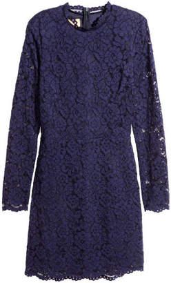 H&M Short Lace Dress - Blue
