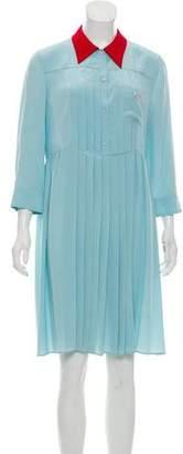 Miu Miu Silk Knee-Length Dress