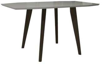 Mid-Century MODERN Incadozo Sinclair Extendable Matte Gray and Brown Oak Indoor Dining Table