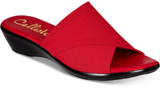 Callisto Shindy Slide Wedge Sandals, Created for Macy's Women's Shoes