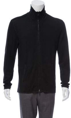 John Varvatos Mock Neck Zip-Up Cardigan