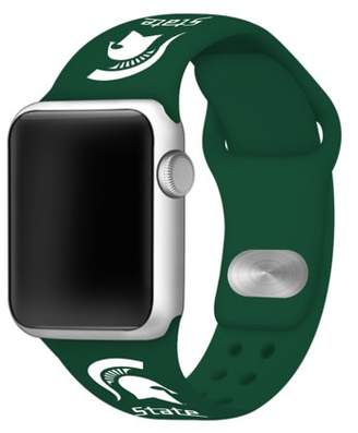 Affinity Bands Michigan State Spartans 38mm Silicone Sport Band fits Apple Watch - BAND ONLY