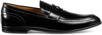 Gucci Leather loafer with Web