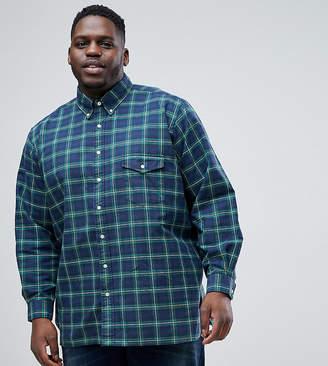 Polo Ralph Lauren Big & Tall Check Oxford Shirt In Dark Green