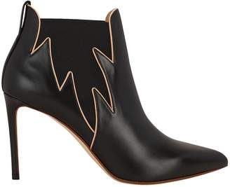 Francesco Russo Flames Leather Booties