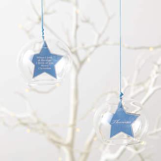 Munchkin Creative Personalised Christmas Star Glass Bauble