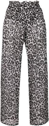 Fisico leopard print palazzo pants