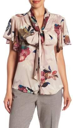 Trina Turk Bracken Floral Print Silk Blend Blouse