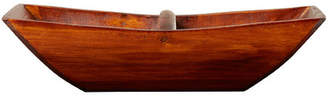 August Grove Wooden Boat Accent Tray with Arched Handle