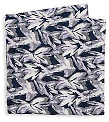 Giorgio Armani Men's Leaf Print Silk Pocket Square