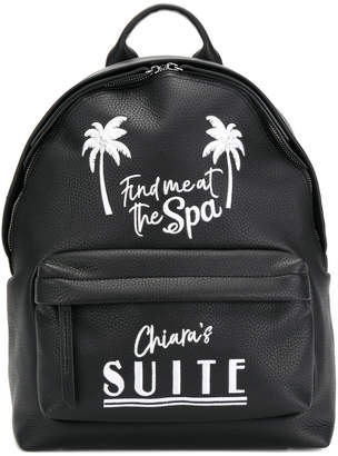 Chiara Ferragni Find Me At The Spa backpack