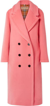 Burberry Oversized Double-breasted Wool And Cashmere-blend Coat - Pink
