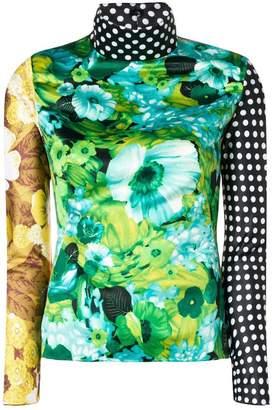 Richard Quinn colour-block turtle neck top