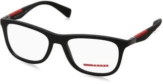 Prada Sport Eyeglasses PS04FV DG01O1 Black Rubber 53 17 135