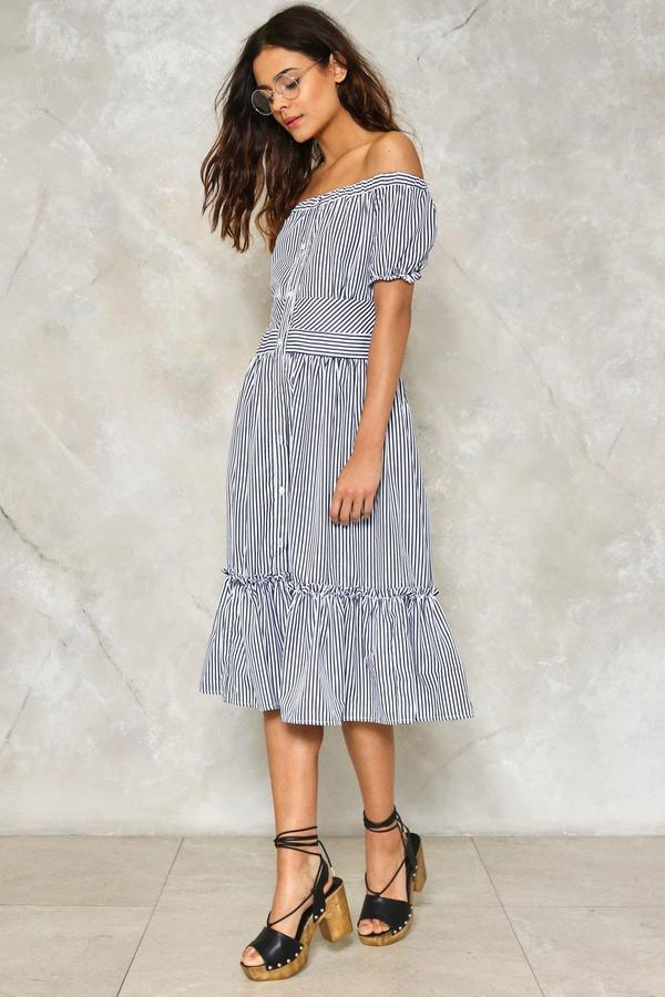 nastygal Pining For You Off-the-Shoulder Dress