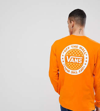 Vans Oversized Long Sleeve T-Shirt In Orange Exclusive To ASOS