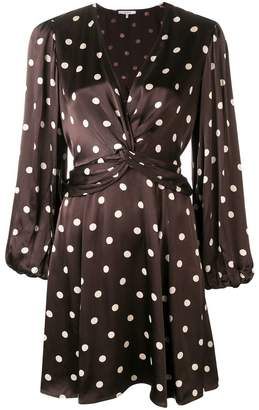 Ganni polka dotted flared dress