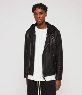 AllSaints Woodley Leather Biker Jacket