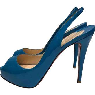 Christian Louboutin Private Number Blue Patent leather Heels