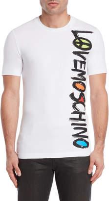 Love Moschino Vertical Logo Tee