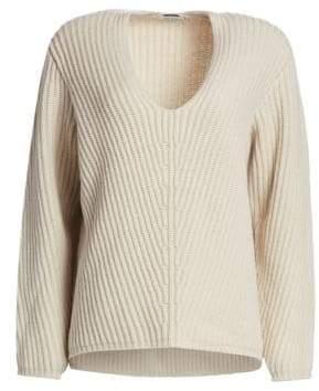 Acne Studios (アクネ ストゥディオズ) - Acne Studios Acne Studios Women's Wool V-Neck Sweater - Cold Beige - Size Large