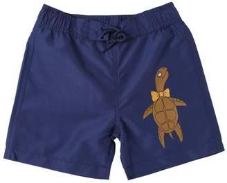 Mini Rodini Turtle Print Nylon Swim Shorts
