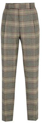 Fendi Houndstooth Wool Trousers - Mens - Beige Multi