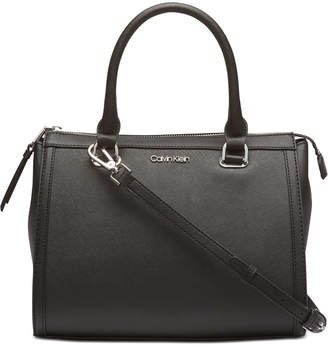 Calvin Klein Mercy Leather Satchel