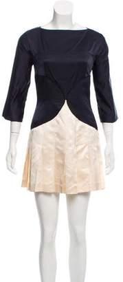 Miu Miu Silk Long Sleeve Dress