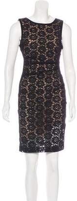 Nicole Miller Lace Ruched Dress