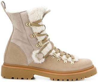 Moncler Berenice shearling boots