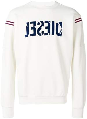 Diesel logo patch sweatshirt
