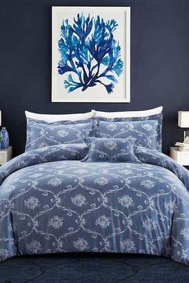 +Hotel by K-bros&Co California Design Den by NMK Hotel Tuscany Comforter 4-Piece Set\n - Full/Queen - Royal Blue