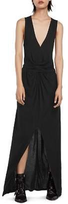 AllSaints Elke Vi Tie-Waist Maxi Dress