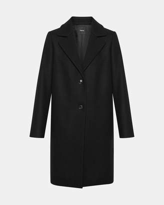 Theory Stretch Melton Long Clairene Coat