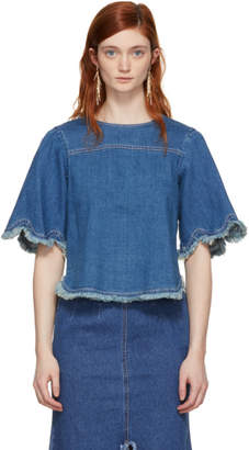 See by Chloe Blue Denim T-Shirt